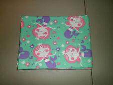 1-Adorable Mermaid Princess Standard Size Pillowcase Very Soft, New & Handmade!