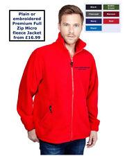 Uneek Men's Fleece Zip Neck Coats & Jackets