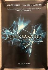 2000 Advance Movie Poster * Unbreakable * Willis/Jackson 27X40'' Pb13