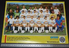 CLIPPING POSTER FOOTBALL 1987-1988 OLYMPIQUE MARSEILLE OM VELODROME DROIT AU BUT
