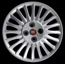 "Fiat Grande Punto 2005 Kit 4 Copricerchi coppa ruota 15"" logo rosso cod. 1215LR"
