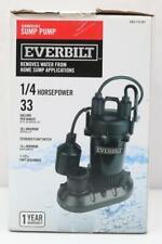 Everbilt (Hdps25W) 1/4 Horsepower, 33 Gallon Per Minute, Aluminum Sump Pump New