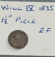 More details for 1835 william iv threehalfpences(1.5d) silver coin in ef 1.5d835