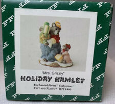 Fitz & Floyd Holiday Hamlet Enchanted Forest Mrs. Grizzly 19/749 1993 Nib New