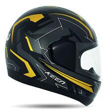 Nau N15 Keen Integralhelm Motorradhelm Helm Schwarz/grau/gold L