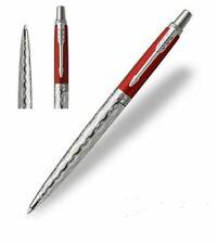 PARKER Pen Jotter Ballpoint Red Classical Chrome Colour Trim + Gift Box