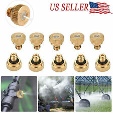 """20X Brass Misting Nozzles Water Mister Sprinkle For Cooling System 0.012"""" Usa"""
