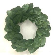 "Magnolia Leaf Twig Wreath~Green,Brown~VERY LIFE Like~24""~PVC/Artificial"