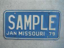 1979 Missouri SAMPLE License Plate Tag