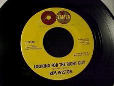 KIM WESTON Looking For The Right Guy MOTOWN NORTHERN SOUL 45 Original TAMLA Hear
