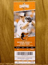 Baltimore Orioles vs Detroit Tigers 8-1-2015 Ticket Stub ~ Kevin Gausman Win #12