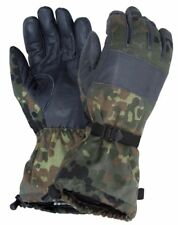 Genuine German army flecktarn camo winter warm combat gloves lined military