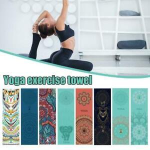 Non-Slip Yoga Pilates Mat Cover Towel Blanket Fitness Microfiber Exercise S4N5
