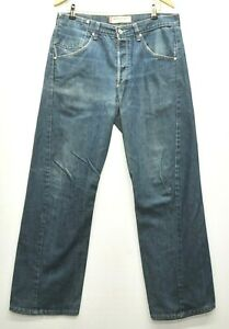SUPERB LEVI ENGINEERED LOOSE FIT TWISTED BLUE DENIM JEANS TROUSERS W 34 L 32