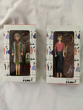 New Mattel 1995 Barbie Keychain lot of 2 - No. 704-0 Fishing & No. 705-0 Poodle
