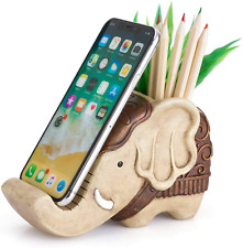 Pen Pencil Holder Phone Stand Cool Bros Resin Shaped Pen Container Cell Phone