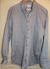 NEXT, Grey, long sleeved, slim fit shirt. 22'' pit to pit. 16'' collar