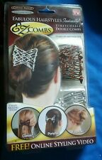 NEW! 2 pack EZ COMBS Caramel Bronze/Dazzling Silver bride easy Hair styling
