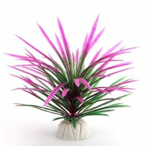 Aquarium Grass Plants Fish Tank Bush Artificial Decoration 12cm Weed Gift Tree