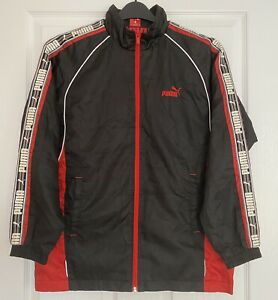 Vintage Mens PUMA Track Jacket Size Small Lined Full Zip True Retro Style