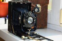 OLD RARE Zeiss Ikon Compur DRP Germany Folding Camera Medium Format w/s Dominar