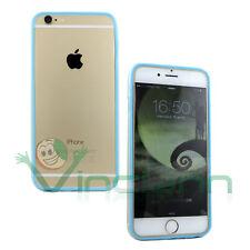 Pellicola+BUMPER AZZURRO trasparente p iPhone 6 4.7 6S cover custodia protezione