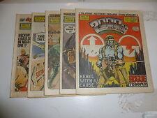 2000 AD Comic 5 Comic JOB LOT - Progs No 371 too 375 Date 1984 - UK Paper Comic