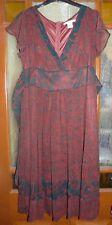 Red & Black Short Dress Size 10 La Redoute Cotte Femme