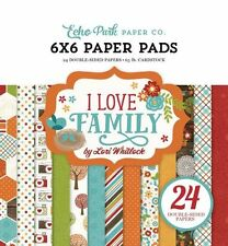 "ECHO PARK ""I LOVE FAMILY"" 6X6 PAPER PAD FALL AUTUMN FAMILY SCRAPJACK'S PLACE"