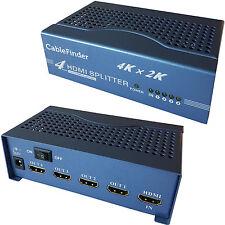 4 Port/Way 4K HDMI Splitter – 1 Input 4 Output Full/Ultra HD Sky Multi-room TV