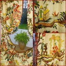 More details for  10ft4x7ft8 curtains linen huge 3mpavl chinoiserie interlined brunschwig & fils