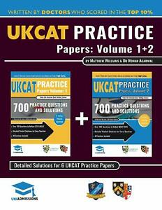 UCAT Practice Papers Volumes One & Two: 6 Full Mock Papers, 1400 Questions