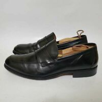 Johnston & Murphy Signature Mens 10.5 WIDE Penny Loafer Shoes Black Leather