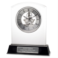 Tr - Things remembered Glass Floating Clock - Silver