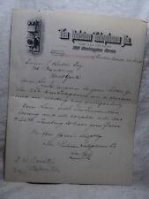1891 LetterHead for the Boston MA PULSION TELEPHONE Company