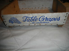 A+! Table Grapes of California Wood Advertising White Birch Box Silver King Labl
