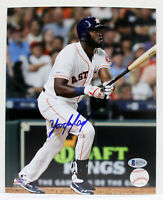 YORDAN ALVAREZ SIGNED AUTOGRAPHED 8x10 ASTROS PHOTO BECKETT ROOKIE BAS R27733