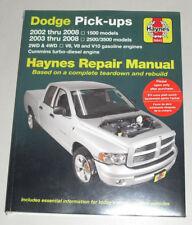 Reparaturanleitung Dodge RAM 1500 2500 3500 Pick Up V6 V8 V10 Diesel, 2002-2008