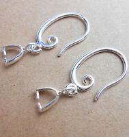 10PCS Jewelry Earring Findings 925 Silver Plated Pinch Hook Ear wire Wholesale