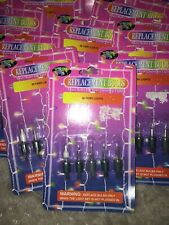 Vintage Christmas Lights 1 Pac X5  Replacement Bulbs 80 Light  Sets  Push In