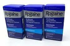Men's Rogaine Extra Strength 5% Minoxidil Topical 3 Month (Lot of 3x 1 mo) 2021+