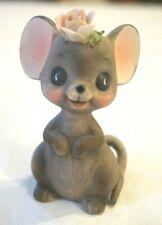Vintage Josef Originals Mouse Figurine Ceramic Mice Decor with Label