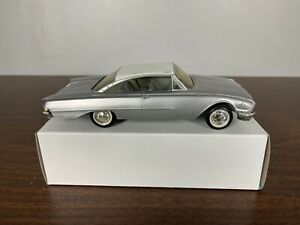 """1960 Ford Starliner Silver White Hardtop Promo Car 8 1/4"""" Box As Is"""