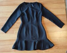 Banana Republic dress women size 4 petite black long sleeve back zip dress