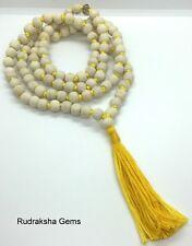 TULSI TULASI KRISHNA ISKCON MALA BUDDHA BASIL WOOD MEDITATION 108 BEADS NECKLACE