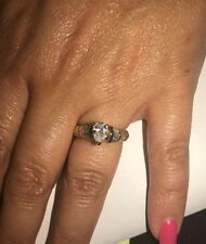 14K YELLOW GOLD .49CT PEAR CUT DIAMOND G Si & Baggets ENGAGEMENT RING  $2950