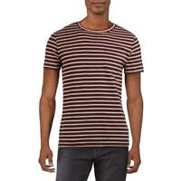 French Connection Mens Kuma Blue Cotton Striped Tee T-Shirt S BHFO 8364