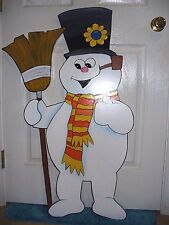 HAND MADE, HAND PAINTED FROSTY  CHRISTMAS YARD ART DECORATION