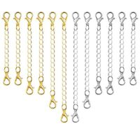 12Pcs Chain Extender Jewelry Necklace Lobster Clasps And Closures For Neckl L9B6