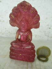 Età Zirconio pietra Naga Buddha magistralmente gioiello fatto a mano Thailand ~ 1970 8cm